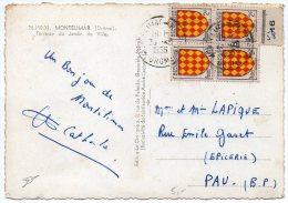 Blason Angoumois X4 Sur Carte De 1956 - Poststempel (Briefe)