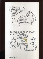 -   RENAUD  PAR WOLINSKI . PLANCHE LIBRE D´UN PORTFOLIO CANAL + . 1989 . - Wolinski