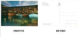CARTOLINA COLORI TOSCANA – FIRENZE – PONTE VECCHIO (NOTTURNO) NON VIAGGIATA  DIMENSIONI CM 10,3x14,7 CONDIZIONI BUONE - Firenze