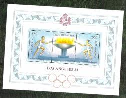 SAINT MARIN - YT BF N°12 - Jeux Olympiques De Los Angeles / Sports - 1984 - Blocs-feuillets