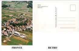 CARTOLINA COLORI TOSCANA –LUCCA – NOZZANO CASTELLO – VEDUTA AEREA NON VIAGGIATA  DIMENSIONI CM 10,3x14,7 CONDIZIONI BUON - Lucca