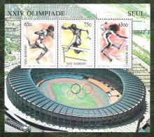 SAINT MARIN - YT BF N°14 - Jeux Olympiques De Séoul / Sports - 1988 - Blocs-feuillets