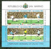 SAINT MARIN - YT BF N°16 - Coupe Du Monde De Football / Sports - 1990 - Blocs-feuillets