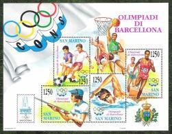 SAINT MARIN - YT BF N°18 - Jeux Olympiques De Barcelone / Sports - 1992 - Blocs-feuillets