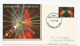 AUSTRALIE. Electronic Mail,  Belle Lettre FDC De Darwin (NT) , Adressée à Bondi (NSW) - Telekom