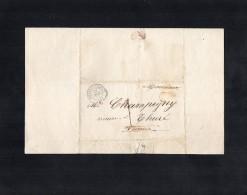 TB 732 - LAC - Lettre De CHATELLERAULT Pour Mr Le Maire à  THURE - 1849-1876: Période Classique