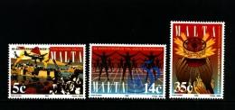 MALTA - 1995  ANNIVERSARIES  SET MINT NH - Malta