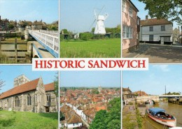 Postcard - Historic Sandwich (Windmill/Barbican/Churches/River Stour), Kent. 2-65-17-05 - Autres