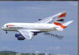 Airbus Avion Cards British Airways A380-841 Aircraft A.380 Aviation A380 Aiplane Aircraft Avion A 380 - 1946-....: Moderne