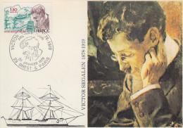 Carte  Maximum  1er  Jour    Victor   SEGALEN      BREST   PARIS    1979 - 1970-79