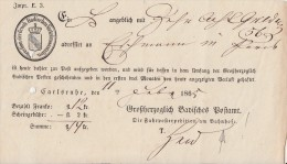 Einlieferungsschein Carlsruhe 11.2.1865 Ansehen !!!!!!!!!!!! - Baden