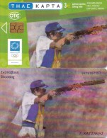 GREECE PHONECARD CHATZAKIS SHOOTING-X1830- 250000pcs-8/04-USED - Jeux Olympiques