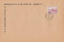 Dt. Besetzung Jersey Brief EF Minr.8 Jersey 29.6.43 FDC - Besetzungen 1938-45