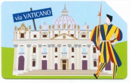 CITTÁ DELL'EURO VATICANO SAN PIETRO SCHEDA TELEFONICA TELECOM 2072 - Italia