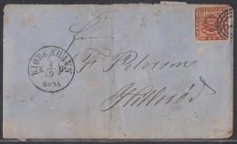 Dänemark Brief EF Minr.7 Kopenhagen 4.9. - 1851-63 (Frederik VII)