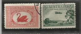 Centenaire De La Colonie De Western-Australia (cygne Noir) Yv # 67 + PA # 2.  2 T-p Oblitérés. Côte  12,00 € - 1913-36 George V : Autres Motifs