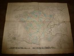 Carte Physique Et Politique De La FRANCE Par M.Drioux Et Leroy, (dim : 70cm X 55cm)  Librairie Eugène Belin  à Parisz - Geographical Maps