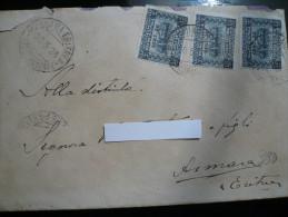 Eritrea Lettera Da Massaua Raccomandate 20.5.1926 Con  Sassone N.46 Sovrastampato 3 Valori Cat.€420 - Eritrea