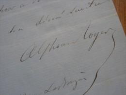 Alphonse ROYER (1803-1875) Ecrivain & Librettiste - Directeur Théâtre Odéon - AUTOGRAPHE. - Autographes