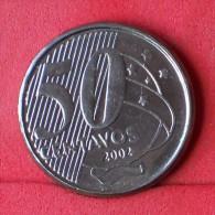BRAZIL  50  CENTAVOS  2002   KM# 651a  -    (Nº11625) - Brésil