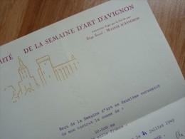 Yves BRAINVILLE (1914-1993) Acteur - [ Léone Nogarède / Festival AVIGNON ] - AUTOGRAPHE. - Autographes