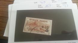 LOT 254903 TIMBRE DE FRANCE OBLITERE N�167 VALEUR 27 EUROS