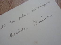 Arvède BARINE (1840-1908) - Historienne & Critique Littéraire. - AUTOGRAPHE. - Autógrafos