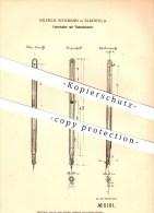 Original Patent - Wilhelm Schemann In Elberfeld  B. Wuppertal , 1878 , Federhalter Mit Tintenbehälter !!! - Schreibgerät