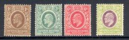 EAST AFRICA & UGANDA, 1907 To 10c (3c No Gum, Others MM), Cat £31 - Kenya, Uganda & Tanganyika