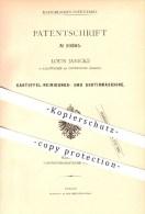 Original Patent - Louis Janicke In Kaltwasser Bei Kodersdorf , 1879 , Kartoffelreinigungs- Und Sortiermaschine , Görlitz - Goerlitz
