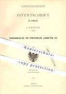 Original Patent - A. Paetow In Berlin , 1880 , Taschenbehälter Für Streichhölzer Und Zigaretten , Zündhölzer !!! - Zündholzschachteln
