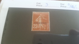 LOT 254947 TIMBRE DE ANDORRE NEUF* N�9 VALEUR 10,5 EUROS