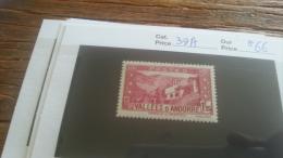 LOT 254973 TIMBRE DE ANDORRE NEUF* N�39A VALEUR 66 EUROS