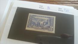 LOT 254987 TIMBRE DE ANDORRE NEUF* N�84 VALEUR 10 EUROS