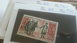 LOT 254990 TIMBRE DE ANDORRE NEUF** N�168 VALEUR 27 EUROS LUXE