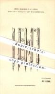 Original Patent - Hugo Burckas I. In Leipzig , 1881 , Schreibfederhalter Mit Tintenfüllung !!! - Schreibgerät