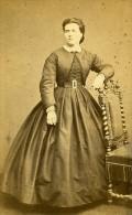 Femme Debout Mode Paris Second Empire Ancienne Pestel CDV Photo 1860 - Photographs