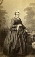 Femme Debout Mode Paris Second Empire Ancienne Mouret CDV Photo 1860 - Photographs