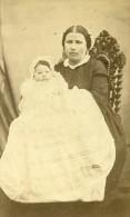 Mere & Son Enfant Mode Paris Second Empire Ancienne Galle CDV Photo 1860 - Photographs