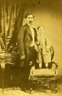 Mere & Son Enfant Mode Paris Second Empire Ancienne Bertrand CDV Photo 1860 - Old (before 1900)