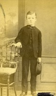 Jeune Garcon Mode 28000 Chartres France Second Empire Ancienne CDV Leclerc Photo 1870 - Old (before 1900)