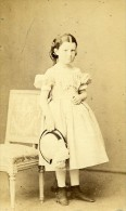 Jeune Fille Mode Paris France Second Empire Ancienne CDV Bayard & Bertall Photo 1870 - Oud (voor 1900)