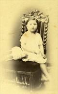 Jeune Fille Emma Gillet Corbeil France Second Empire Ancienne CDV Bonnefon Photo 1870 - Photographs