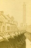 Phare & Fosses De La Ville 62100 Calais France Ancienne CDV Photo 1870 - Old (before 1900)