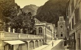Station Thermale 64400 Eaux Bonnes France Ancienne CDV Photo Lafon 1870 - Photographs