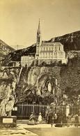 Pelerinage à La Grotte 65100 Lourdes France Ancienne CDV Viron Photo 1870 - Photographs