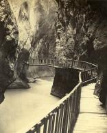 Gorges Du Fier 74330 Epagny France Ancienne CDV Photo 1870 - Photographs