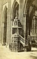 Interieur D Eglise Lieu Inconnu France Ancienne Photo CDV 1870 - Photographs