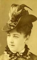 Portrait Feminin Chapeau New York USA Ancienne CDV Photo 1870 - Photographs
