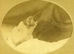 Homme France Agen Ancienne Milet CDV Photo Post Mortem 1870 - Photographs